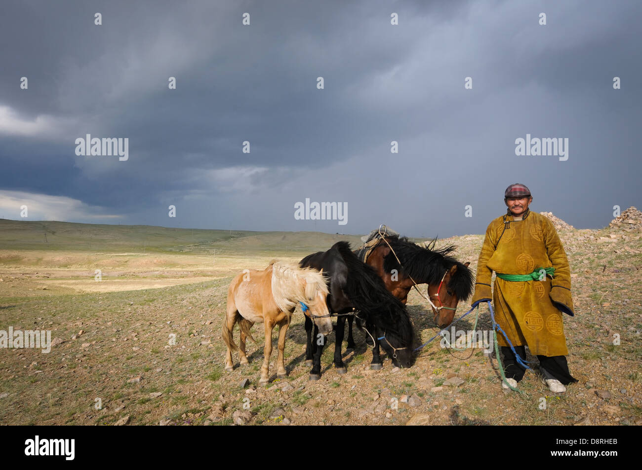 Life in ruralMongolia. - Stock Image