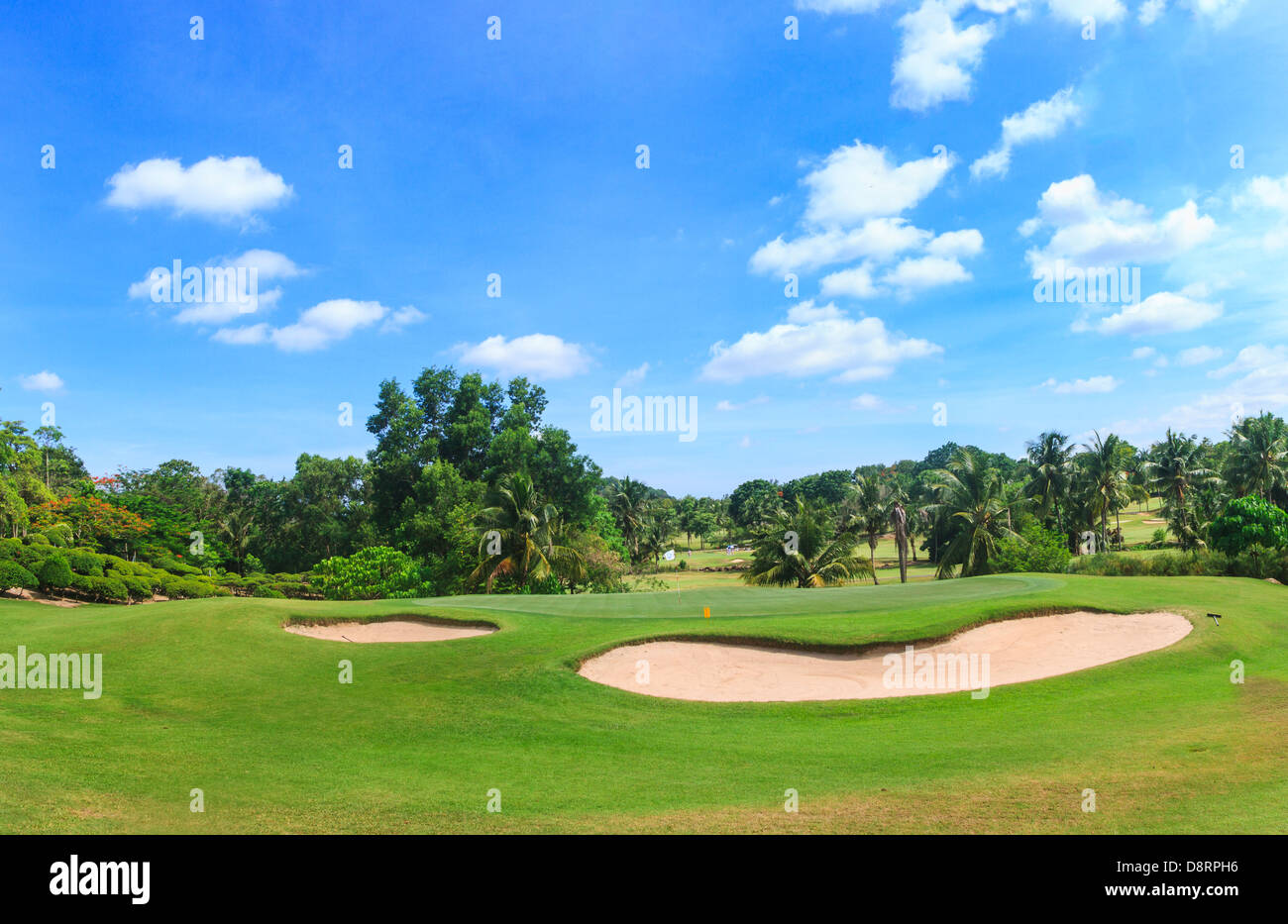 8th hole at Green Valley/St Andrews golf course near Pattaya, Thailand - Stock Image
