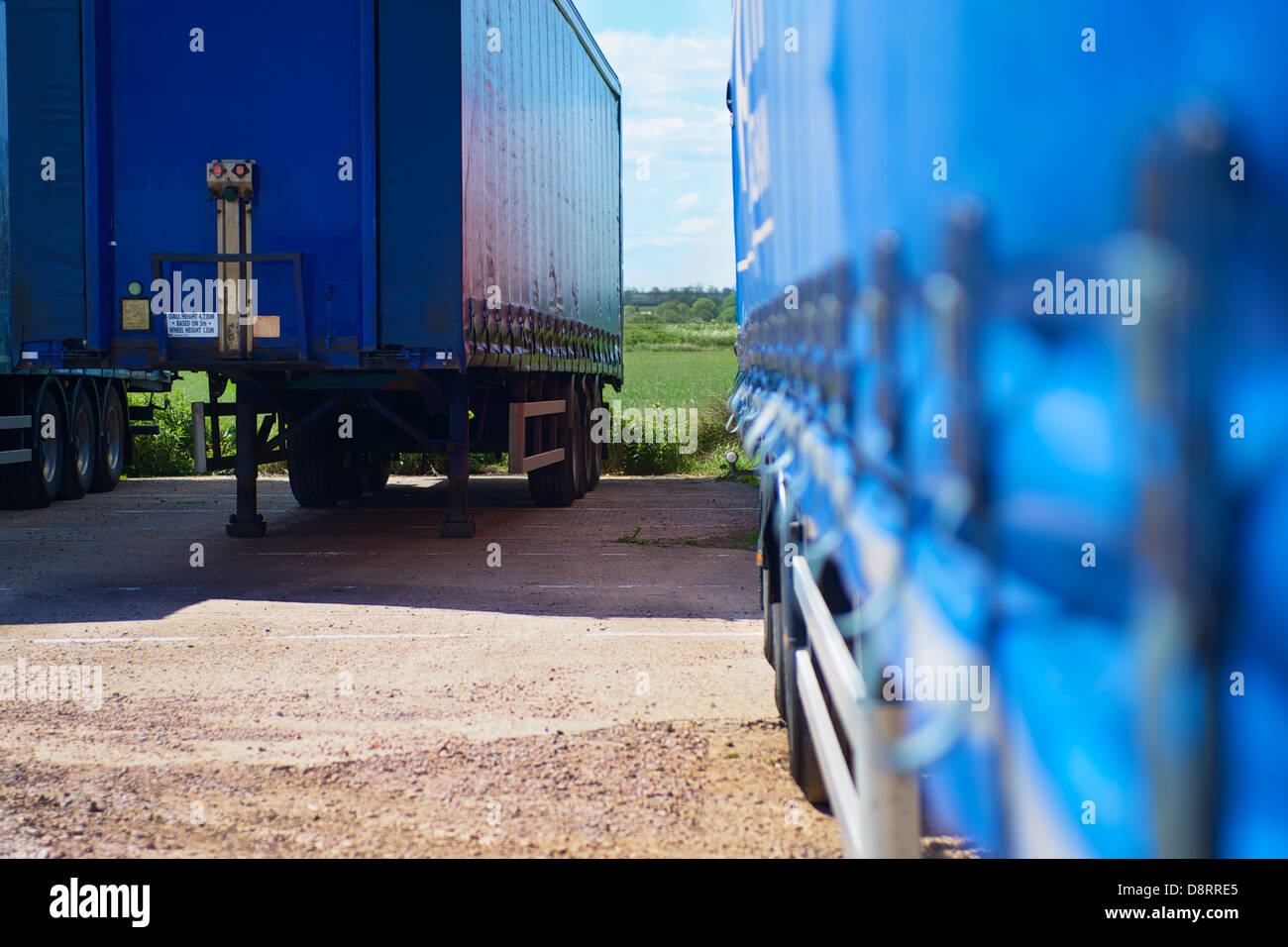 parked trailer unit - Stock Image