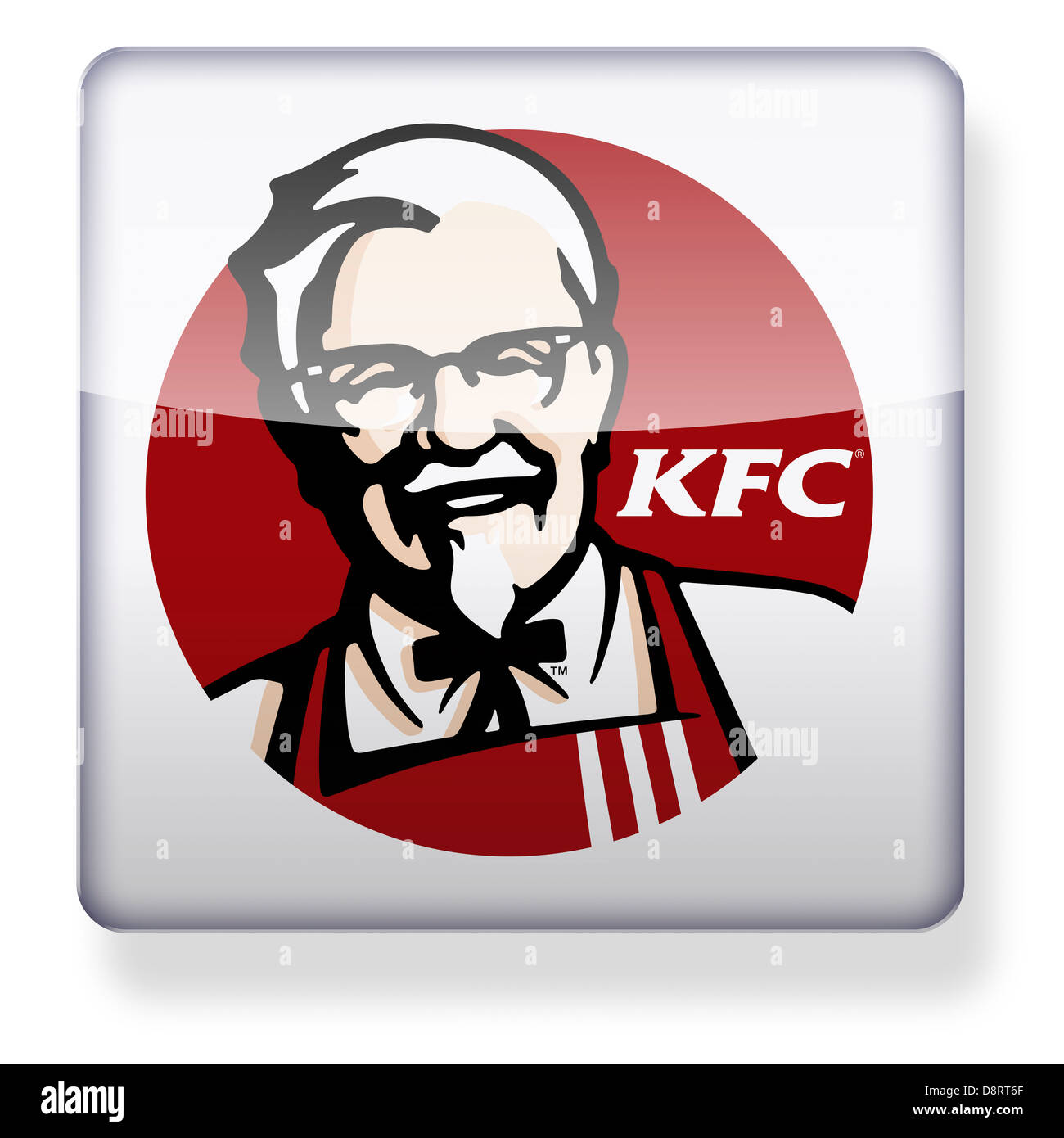 KFC logo as an app icon. Clipping path included. - Stock Image