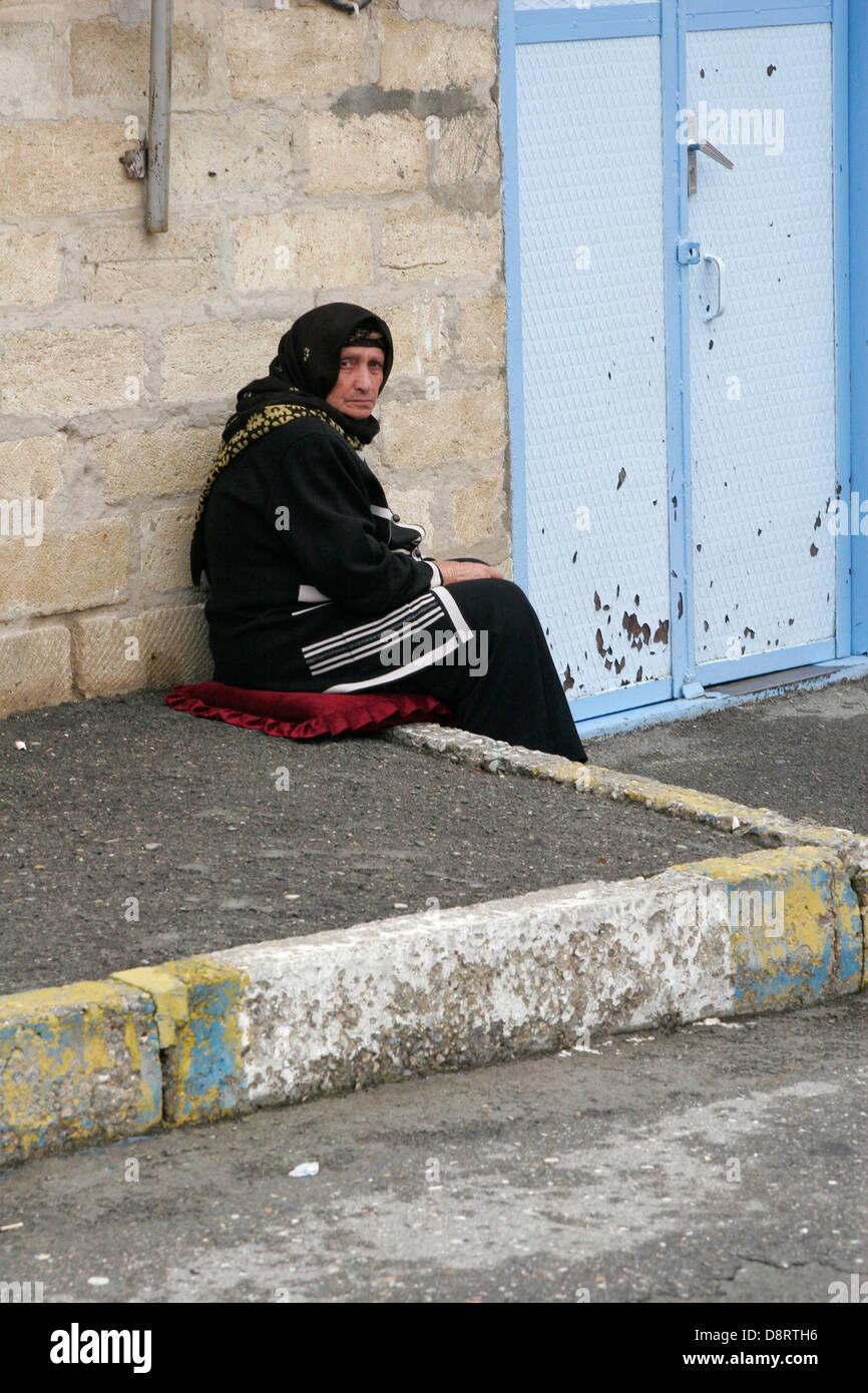Old woman, Quba, Azerbaijan - Stock Image