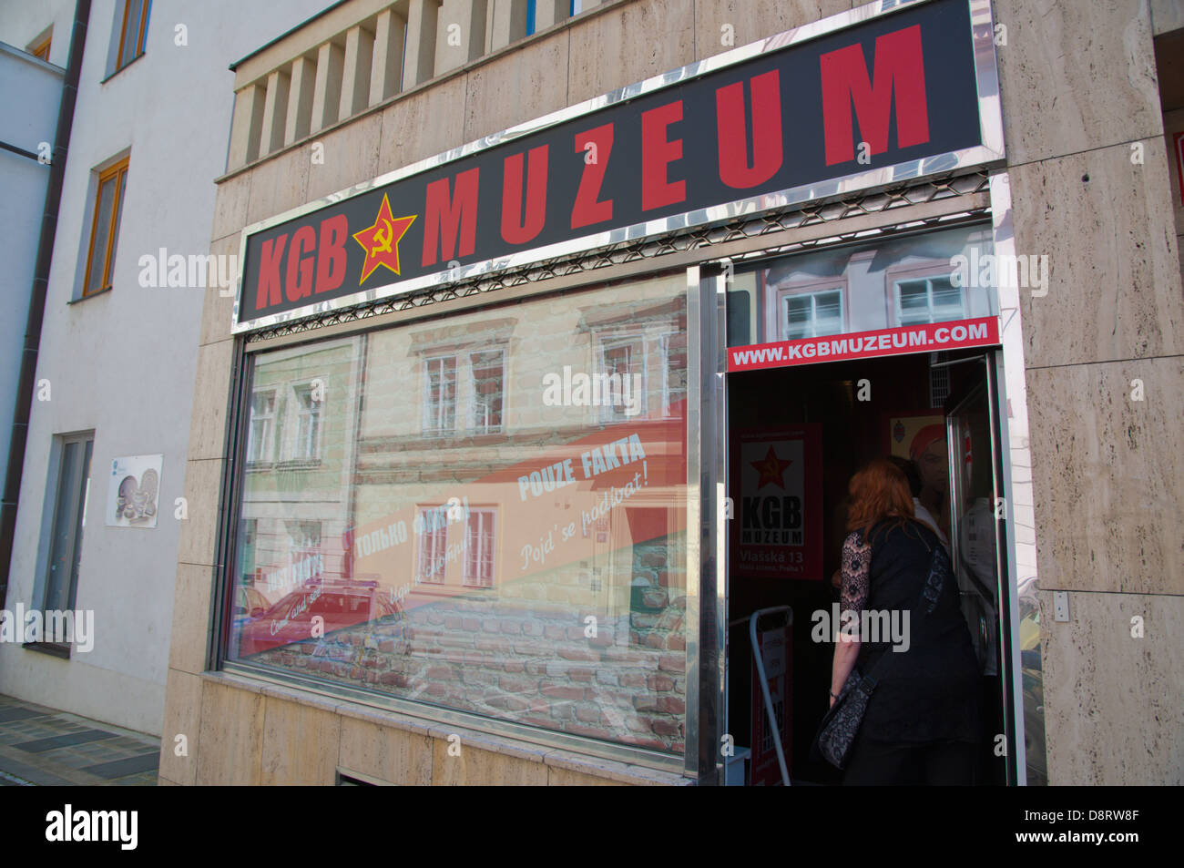 KGB Muzeum the KGB Museum Mala Strana district Prague city Czech Republic Europe - Stock Image