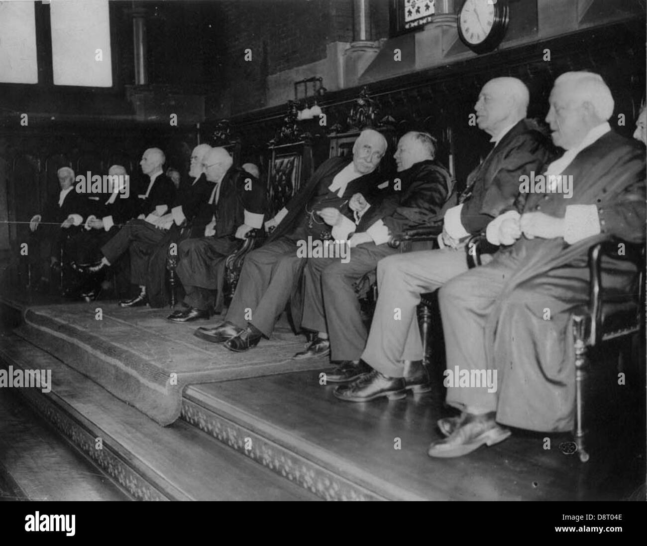 Photograph of call to the Bar in Convocation Hall, 1936 - Stock Image