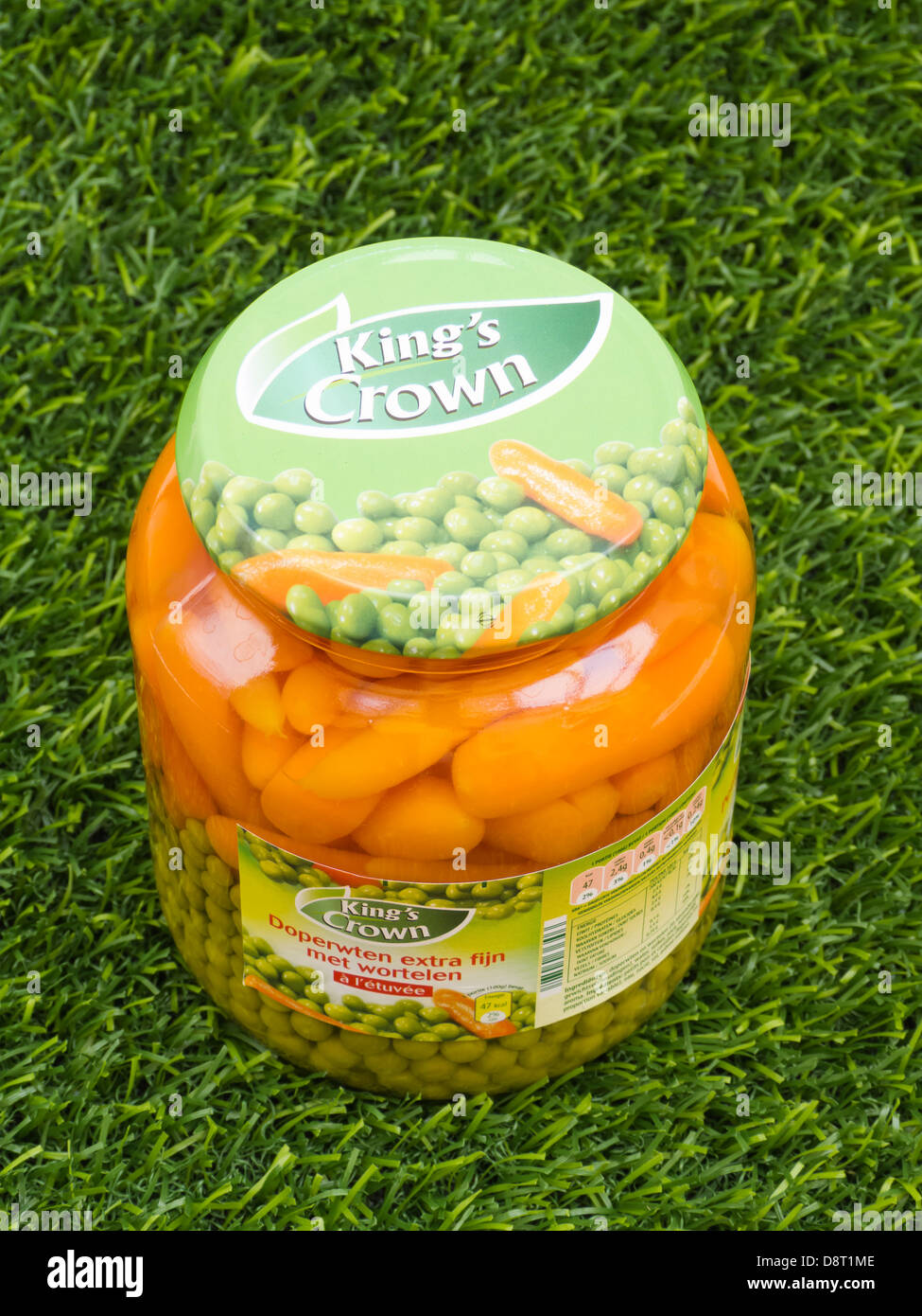 Kings Crown Peas and Carrots - Stock Image