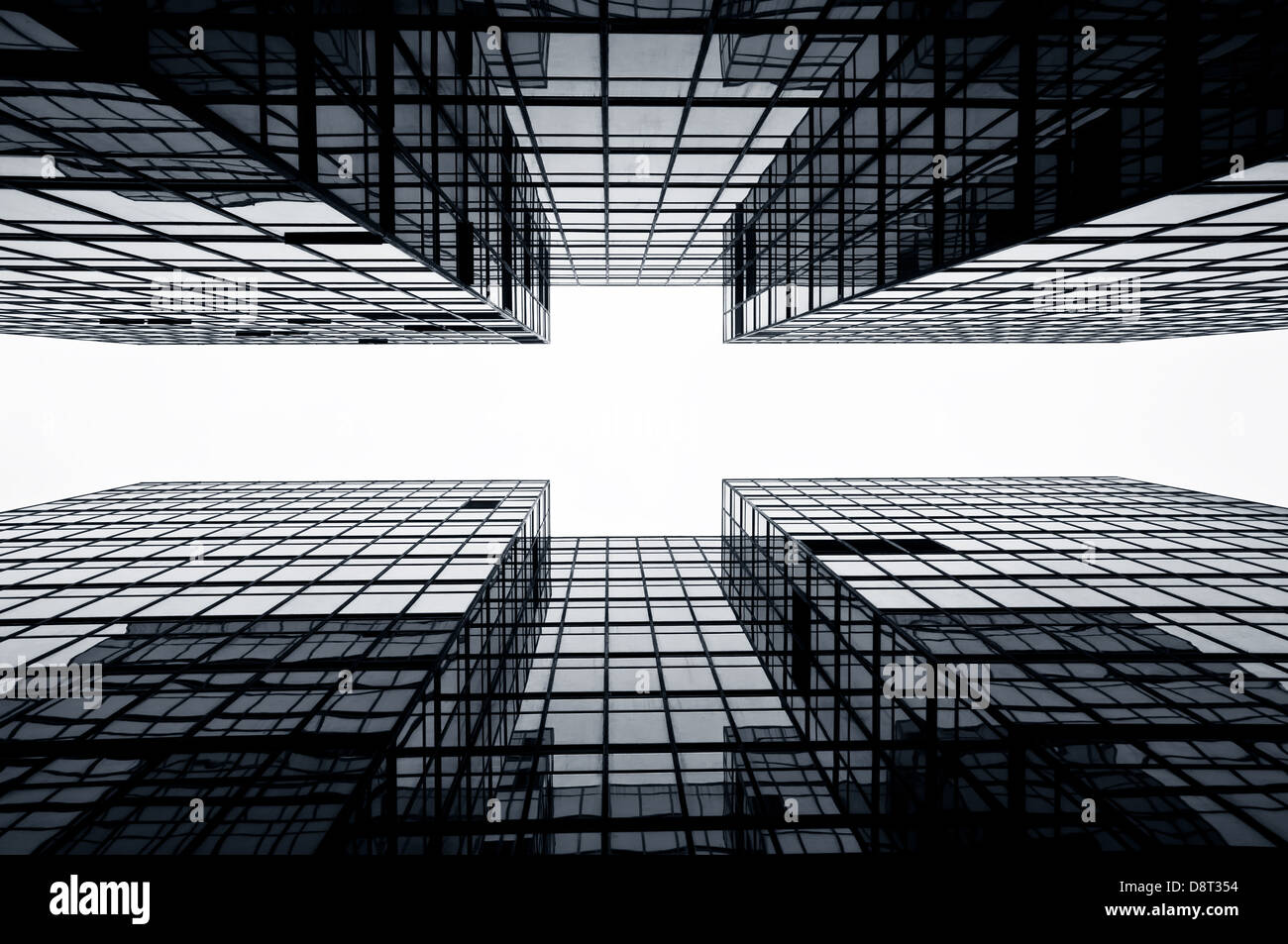 Glass office skyscrapers, Hong Kong - Stock Image
