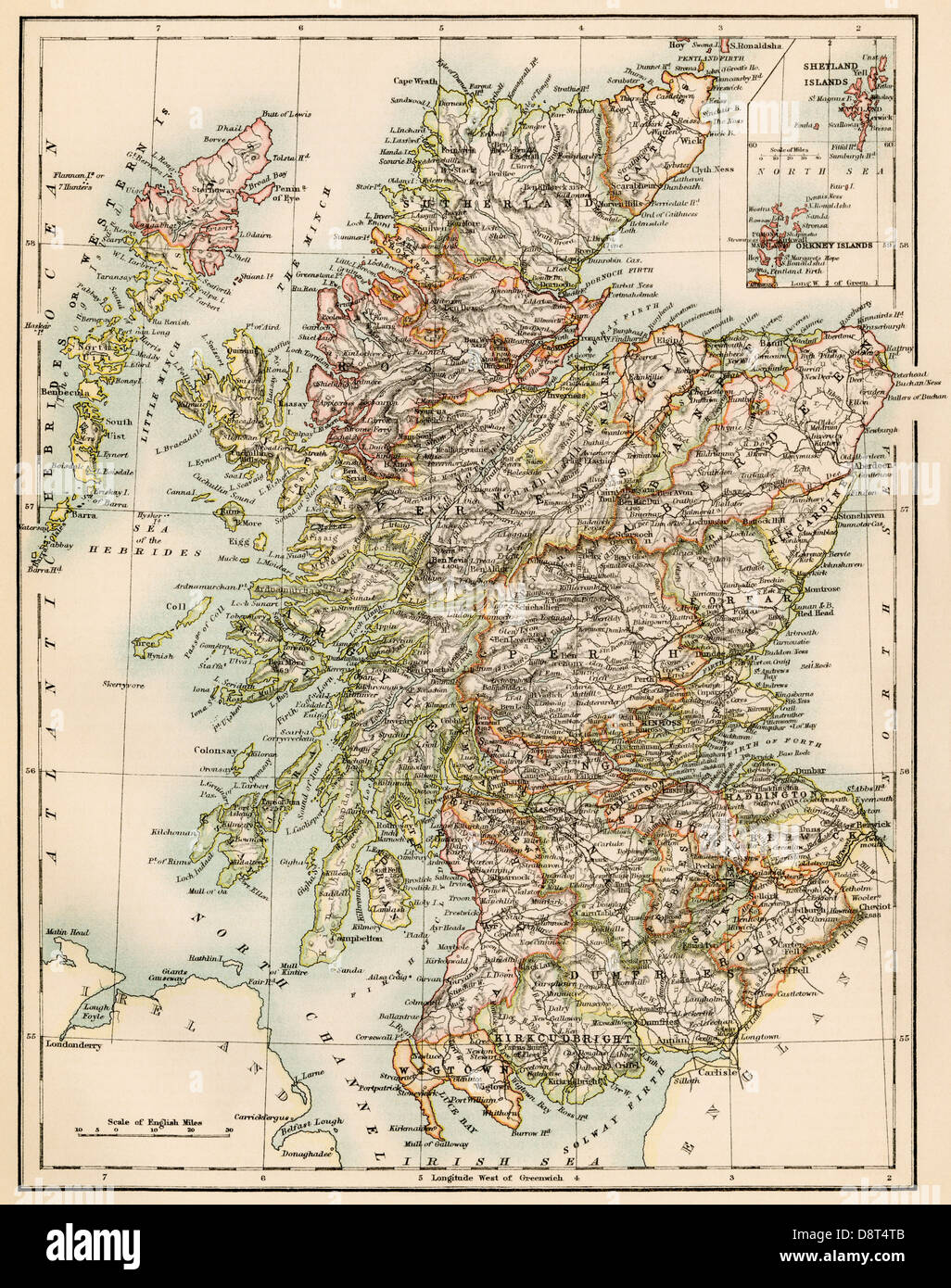 Scotland Old Map Stock Photos & Scotland Old Map Stock Images - Alamy