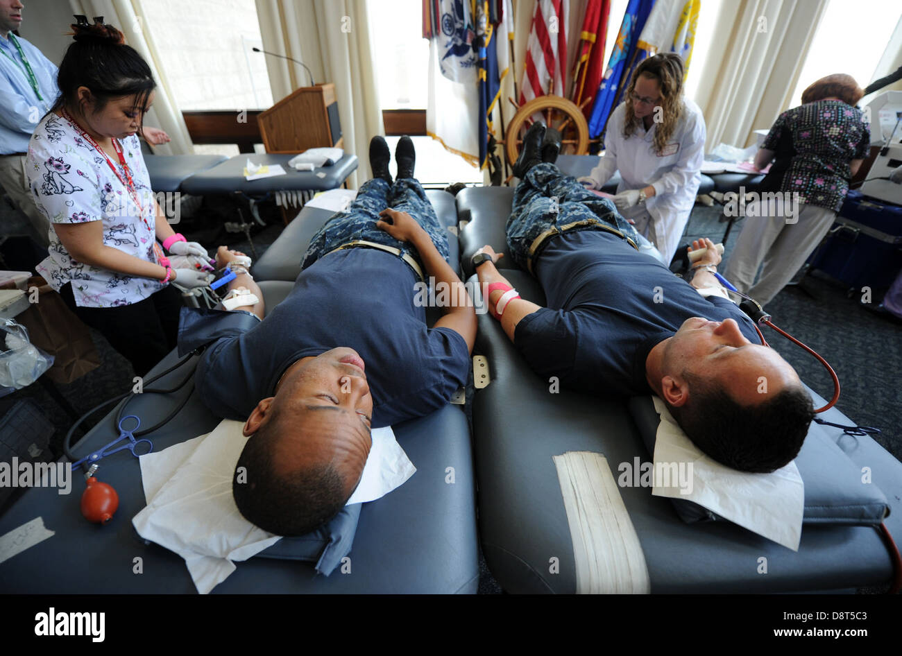 NEWPORT, R.I. (May 30, 2013) Chief Hospital Corpsman Tom Smalls, independent duty corpsman for U.S. Naval War College - Stock Image