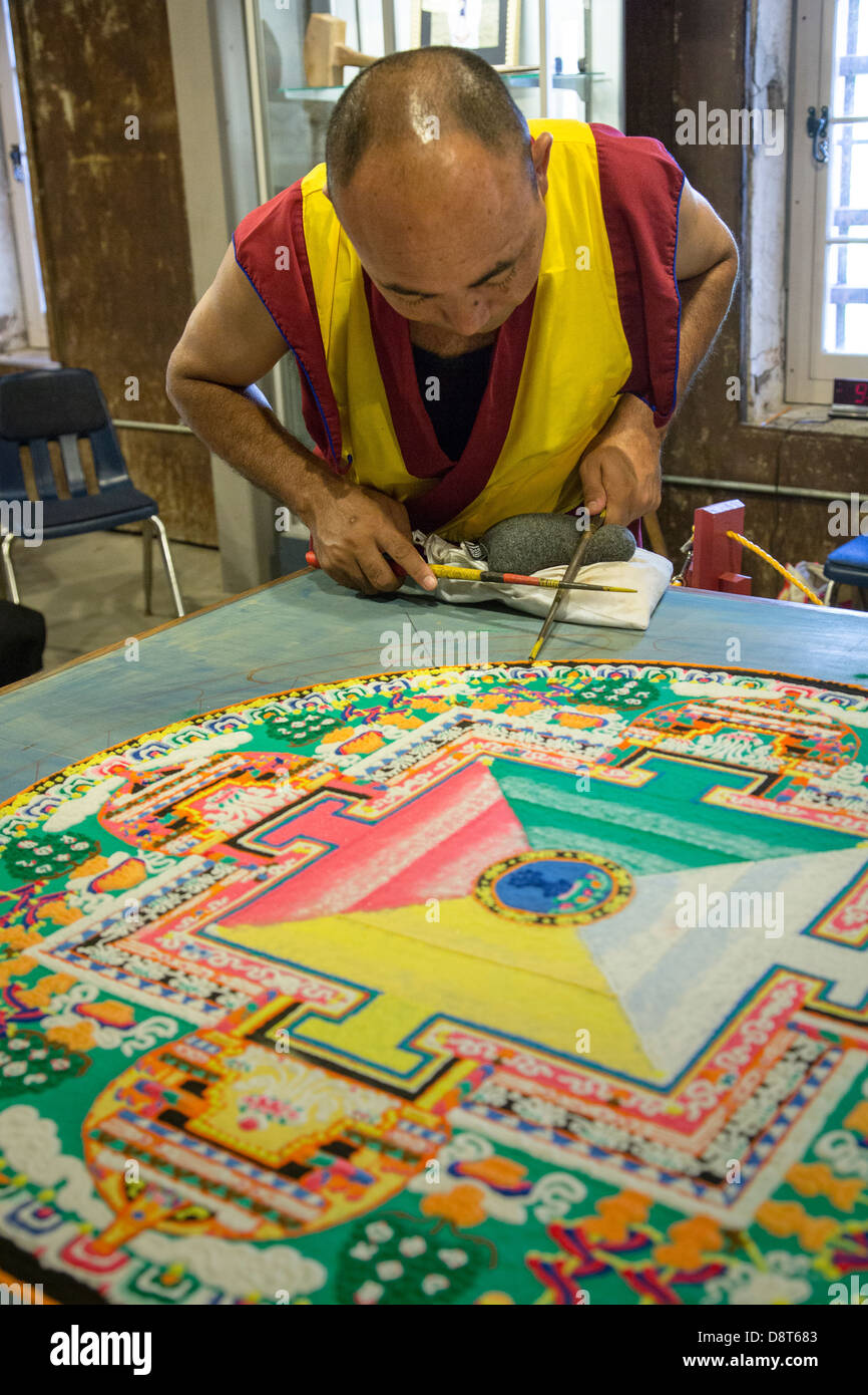 Tibetan Buddhist Monks Craft Mandala Made From Sand May 30 2013 In