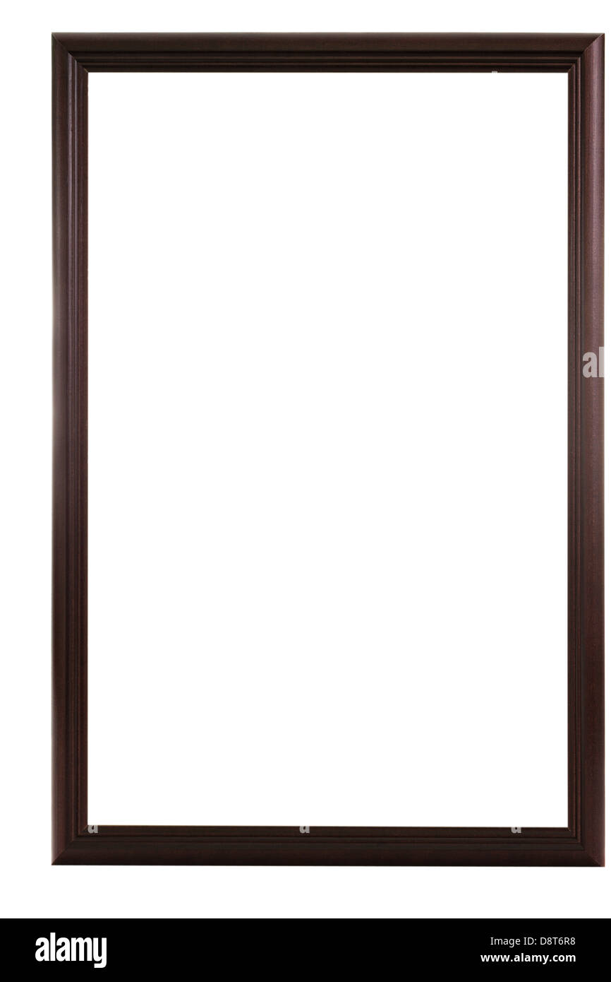 Dark Round Border Wooden Frame   Stock Image