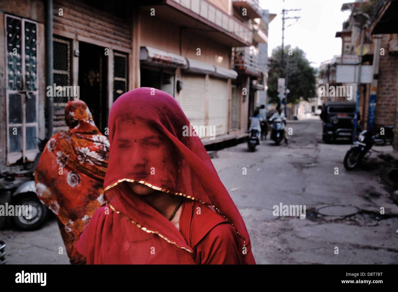 Street Scene Jodhpur, Rajasthan, India - Stock Image