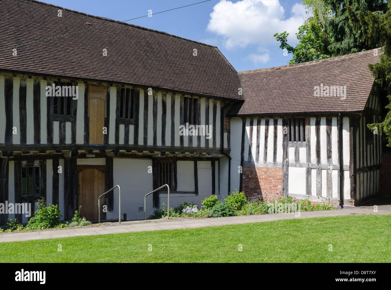 The medieval Tudor Merchant's House in Kings Norton, Birmingham - Stock Image