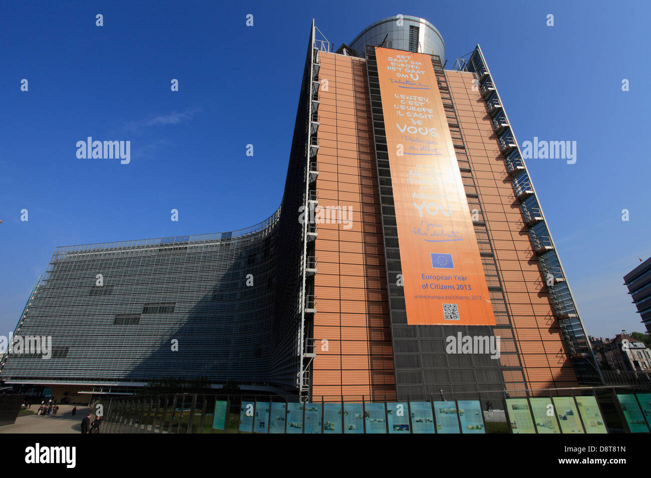 Belgium; Brussels; European Commission, Berlaymont Building, - Stock Image