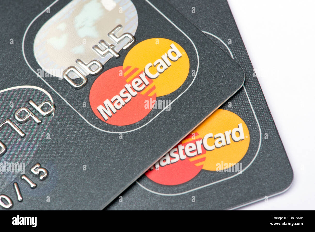 Two Mastercard payment cards - Stock Image