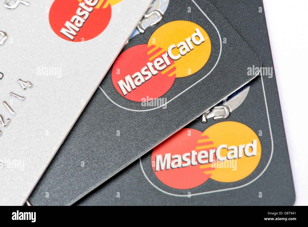 A collection of credit cards - Stock Image