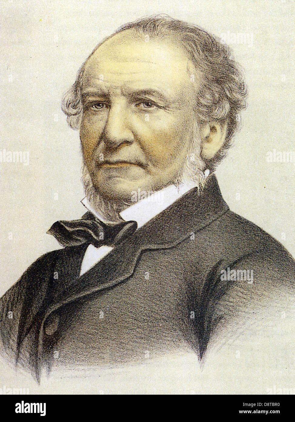 WILLIAM GLADSTONE  (1809- 1898) British Liberal statesman - Stock Image