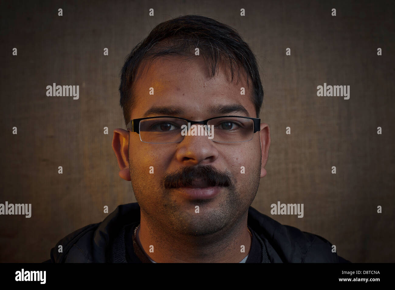 Men of Movember, portraits of Men who had grown a moustache for charity during the month of November 2012. - Stock Image