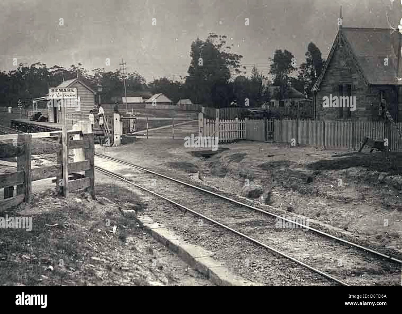 Railway station - Valley Heights - Stock Image