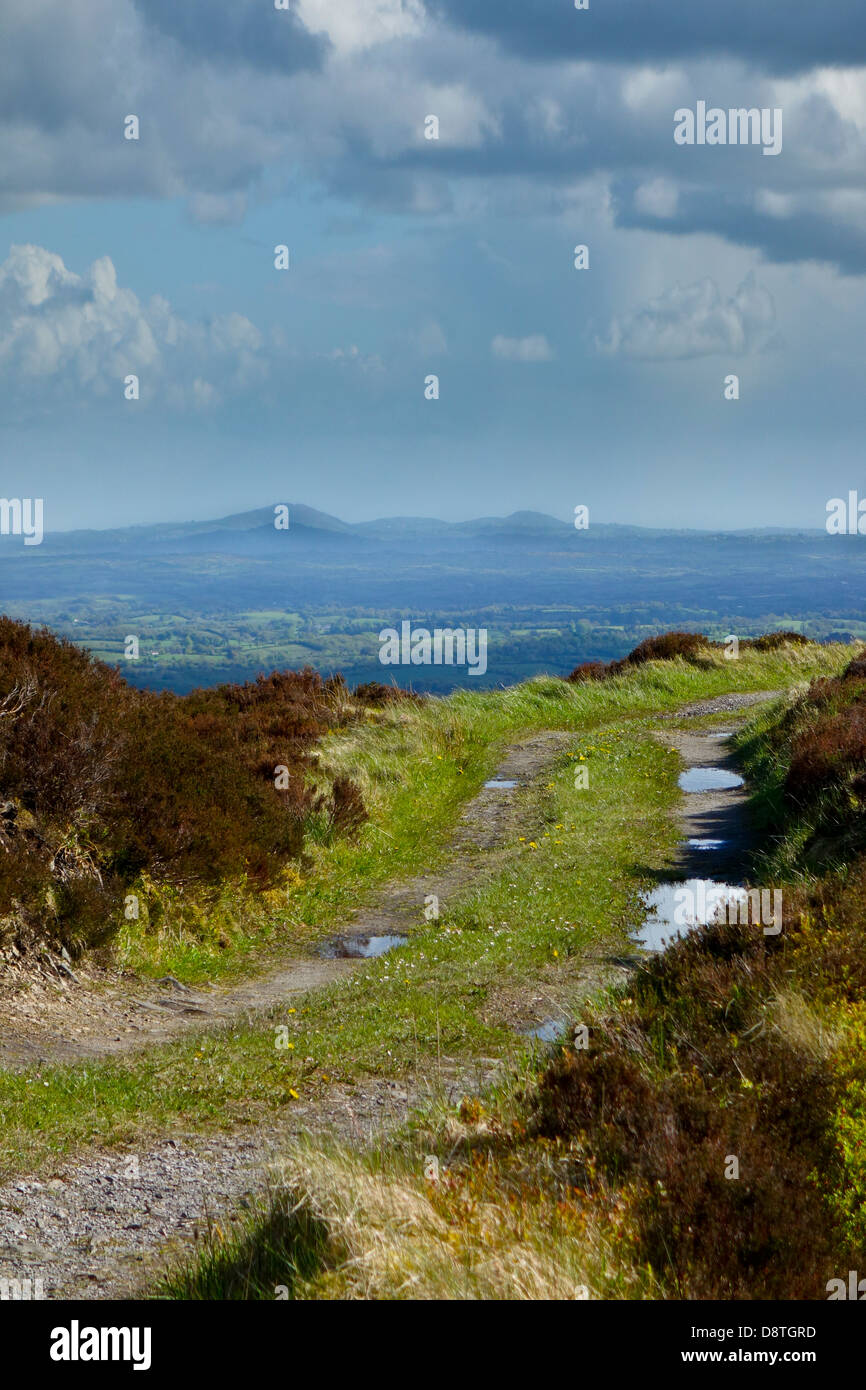 Carnmore view point Sliabh Beagh and Irish border County Monaghan - Stock Image