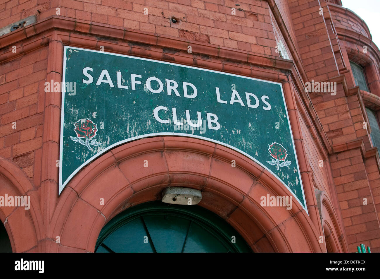 Sign over door for Salford Lads Club, Greater Manchester Stock Photo