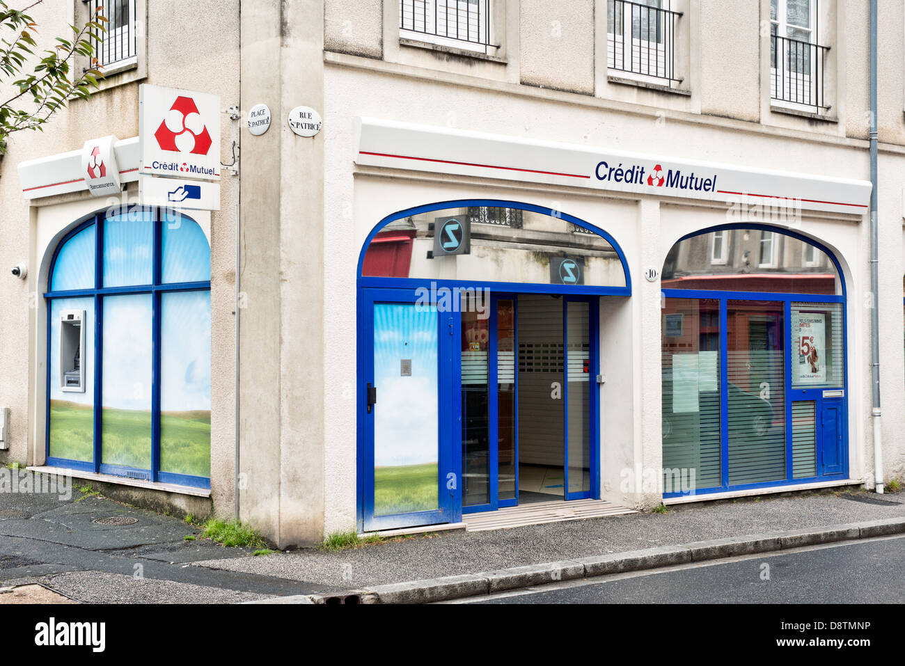 A Branch Of Credit Mutuel Bank In Bayeux Normandy France