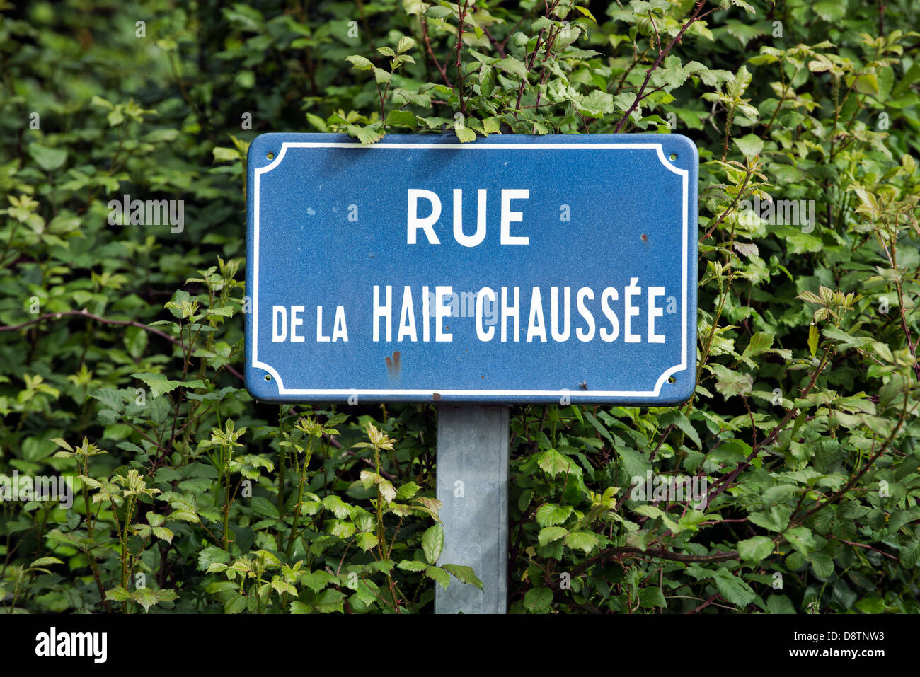 A traditional French street name sign - Stock Image