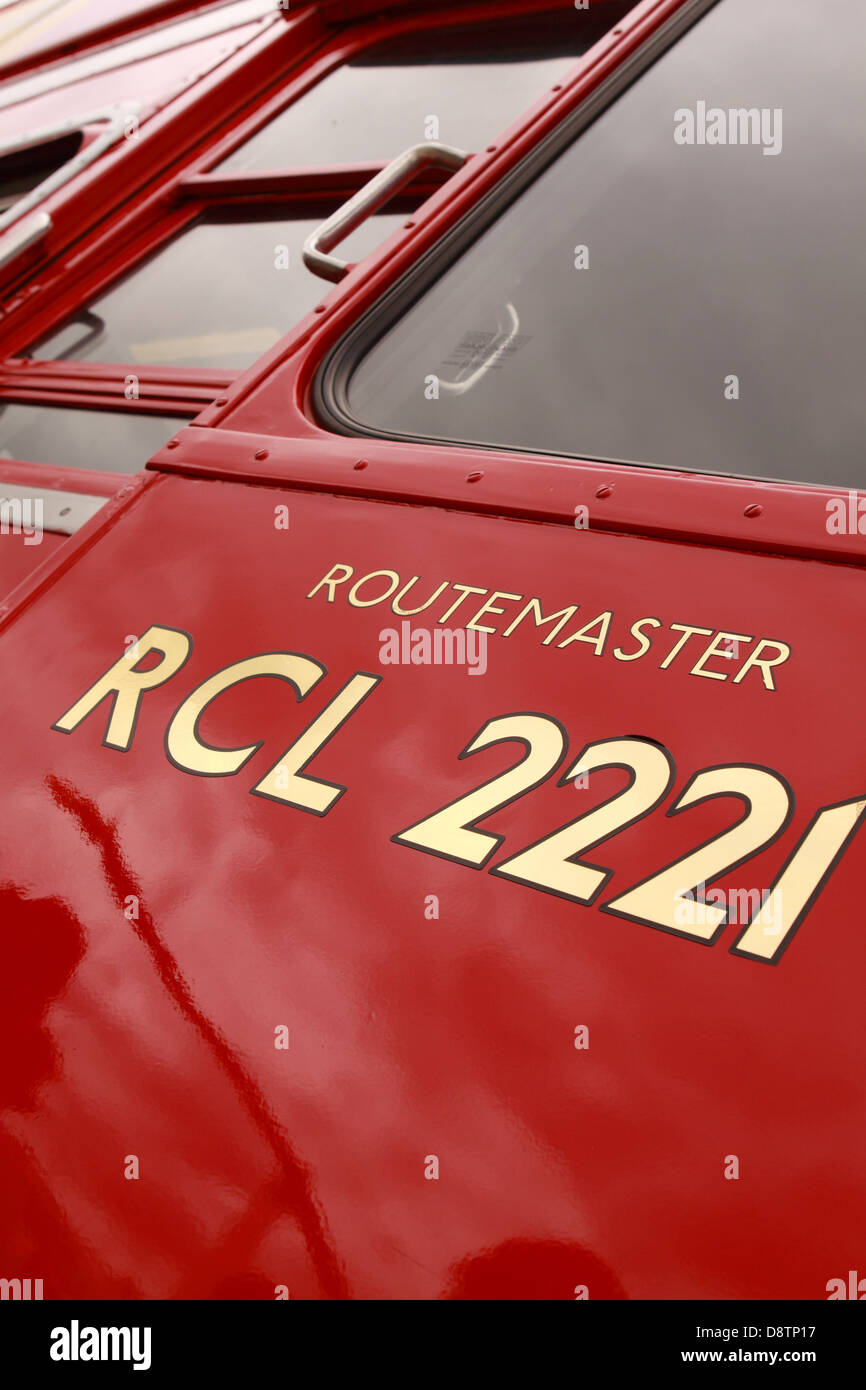 Routemaster red London doubledecker bus - Stock Image