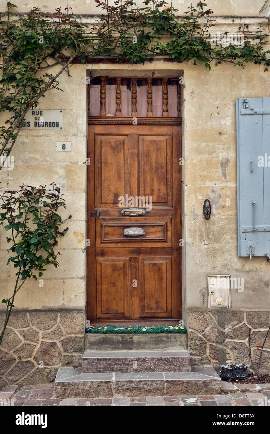 A typical French front door Stock Photo
