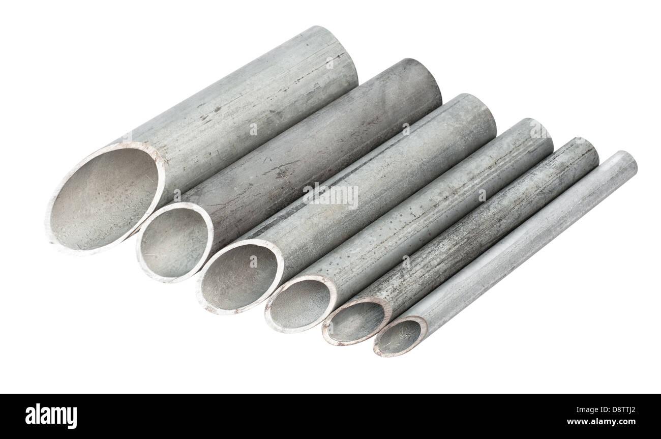galvanized pipe - Stock Image