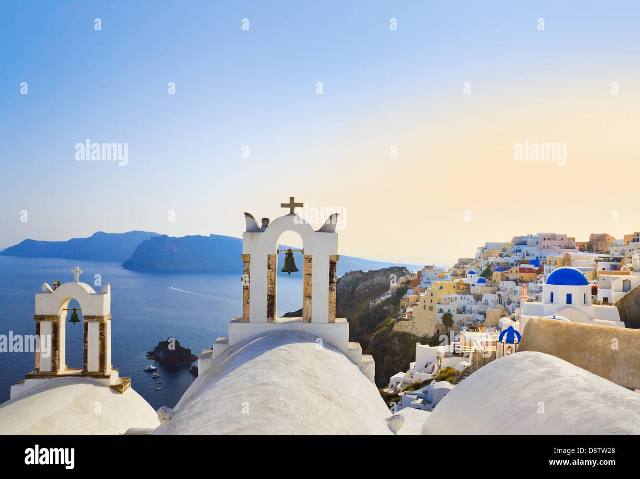 Santorini sunset (Oia) - Greece - Stock Image