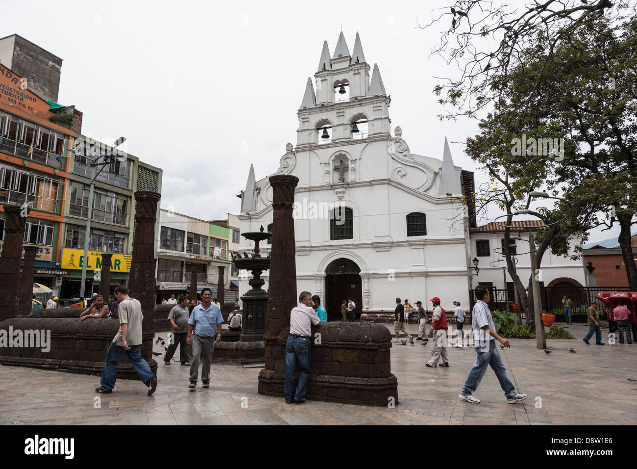 Iglesia de la Veracruz, La Veracruz Church, Medellin, Colombia - Stock Image