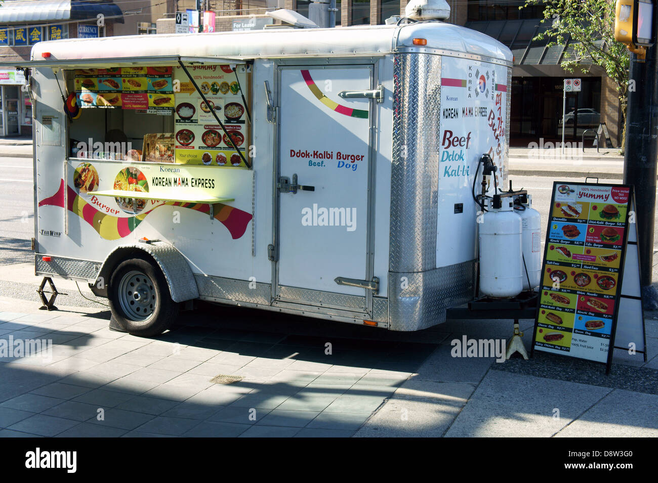 Korean Street Food Truck In Vancouver British Columbia Canada Stock Photo Alamy