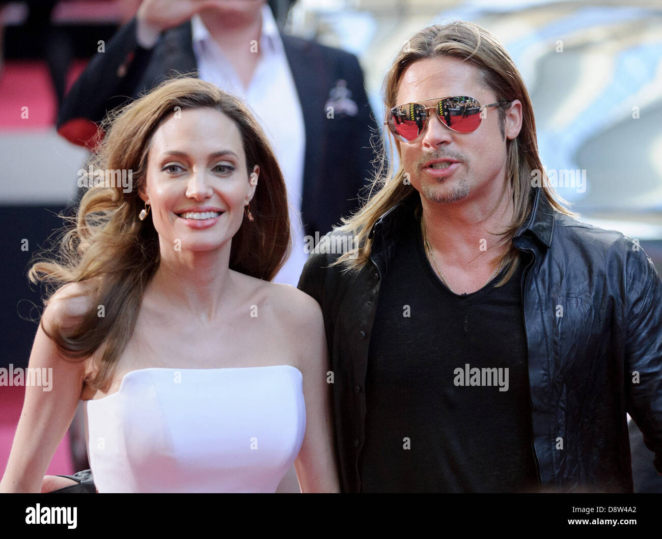 Berlin, Germany. 4th June 2013. The Hollywood actors Angelina Jolie and Brad Pitt attends the premiere of the film Stock Photo