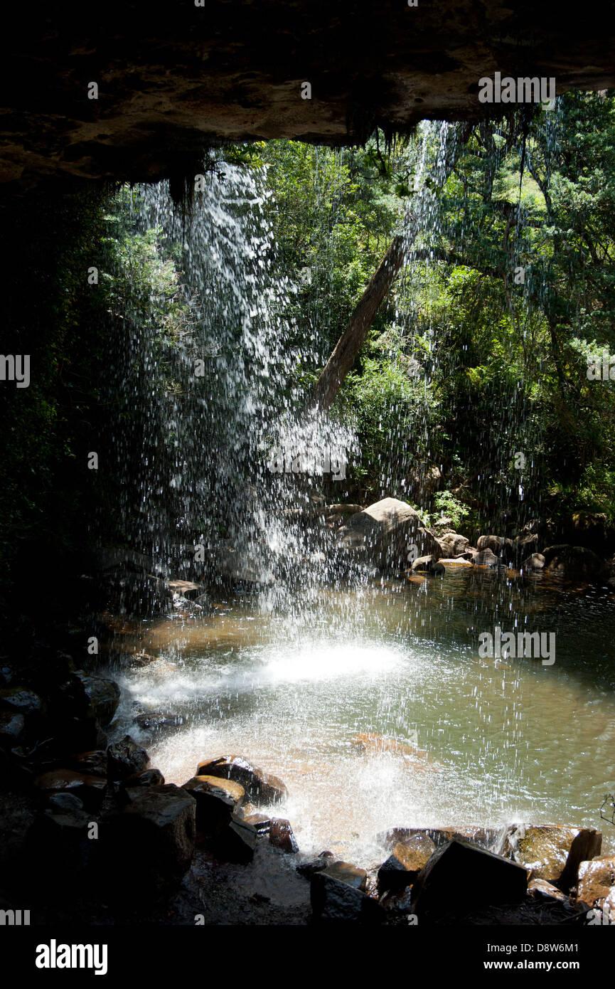 Doreen Falls, Royal Natal, uKhahlamba Drakensberg Park, South Africa - Stock Image