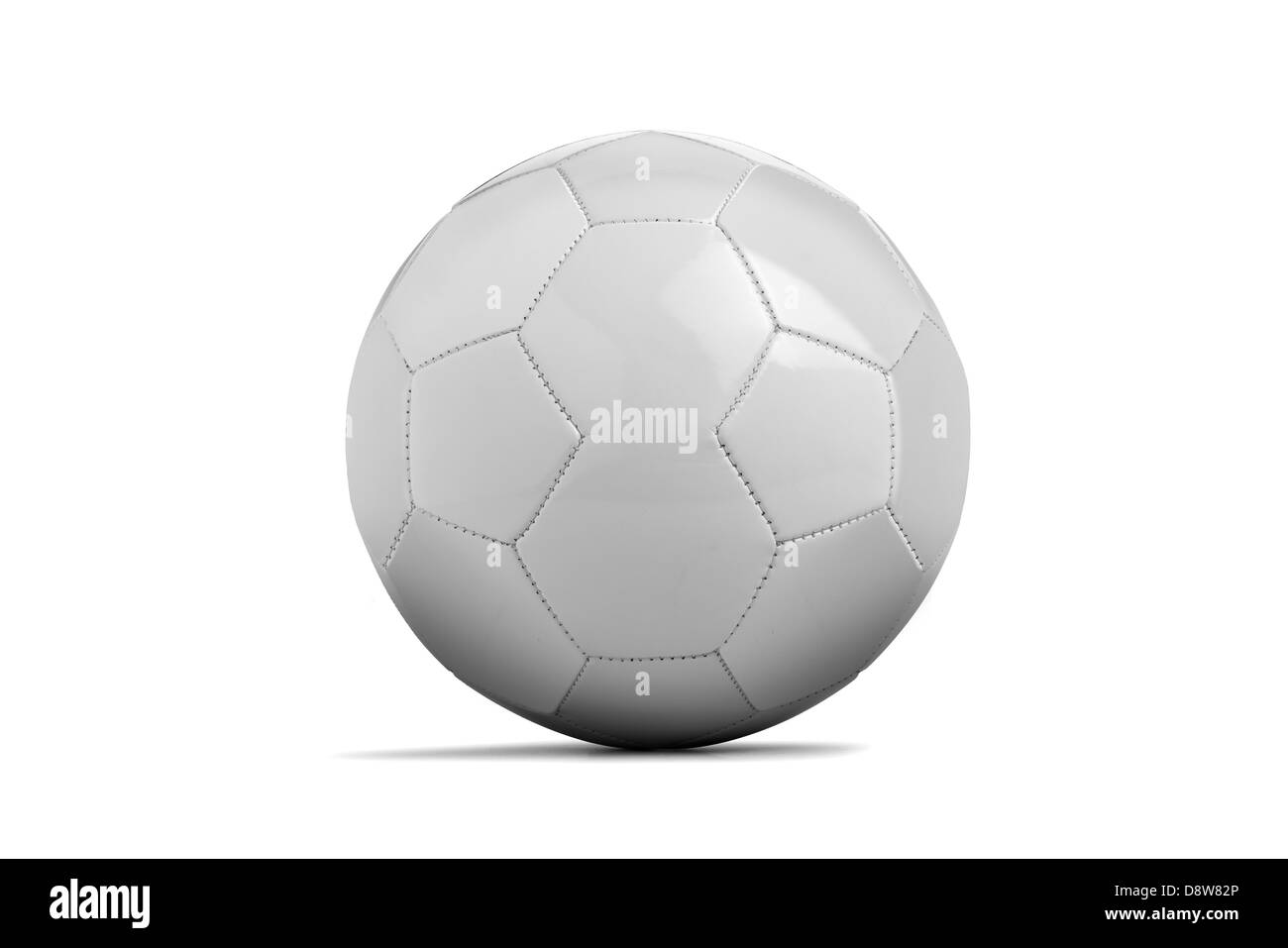 soccer ball isolated on white - Stock Image