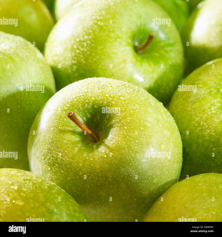 Granny Smith apples - Stock Image