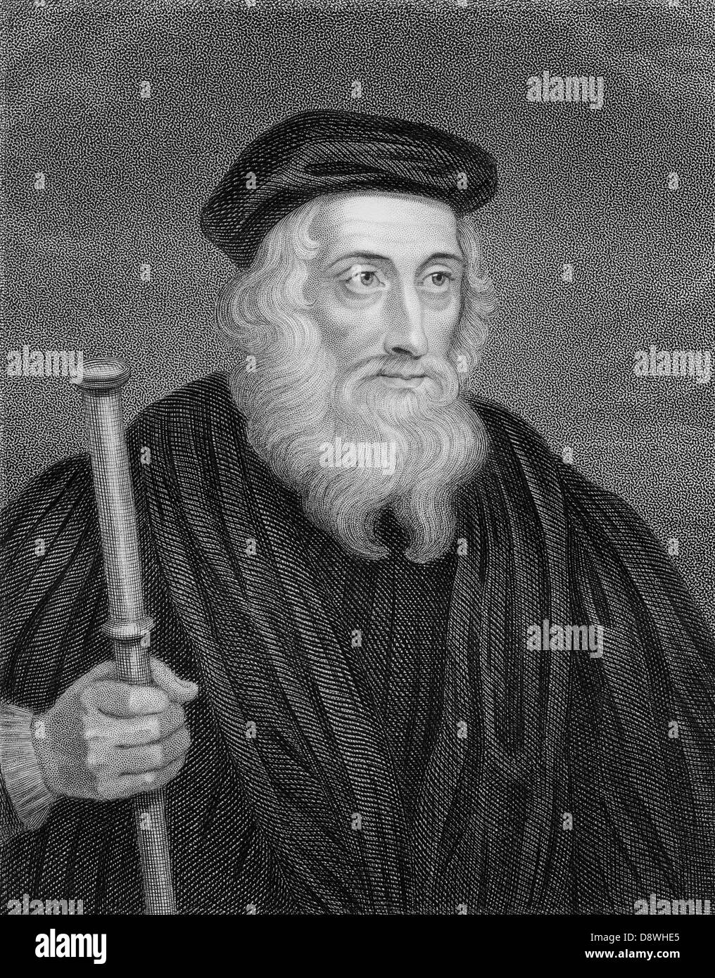 John Wycliffe (1320 – 1384), religious reformer and theologian - Stock Image