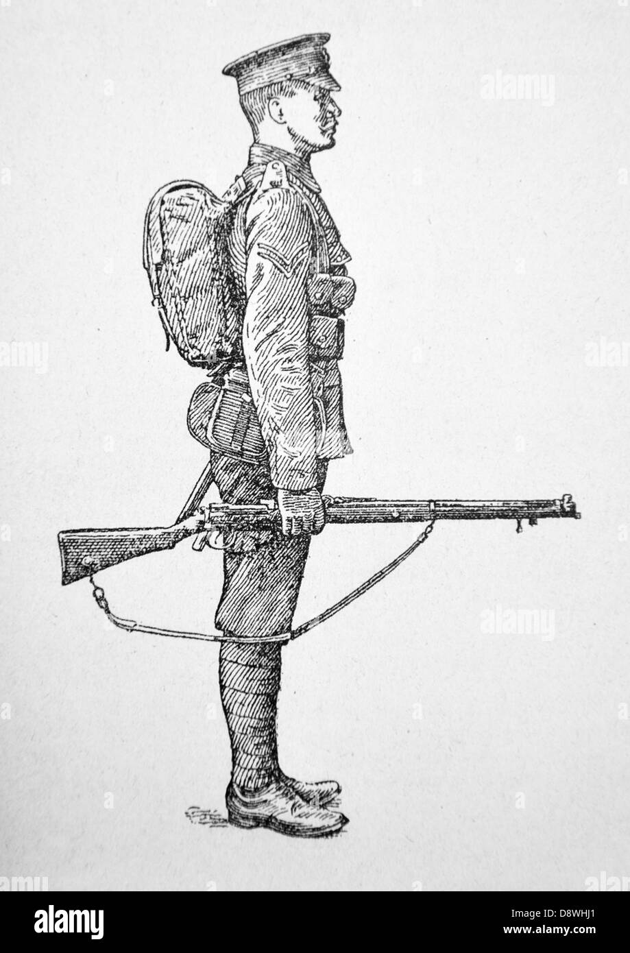 Illustration Of A First World War Soldier Stock Photo 57110985 Alamy
