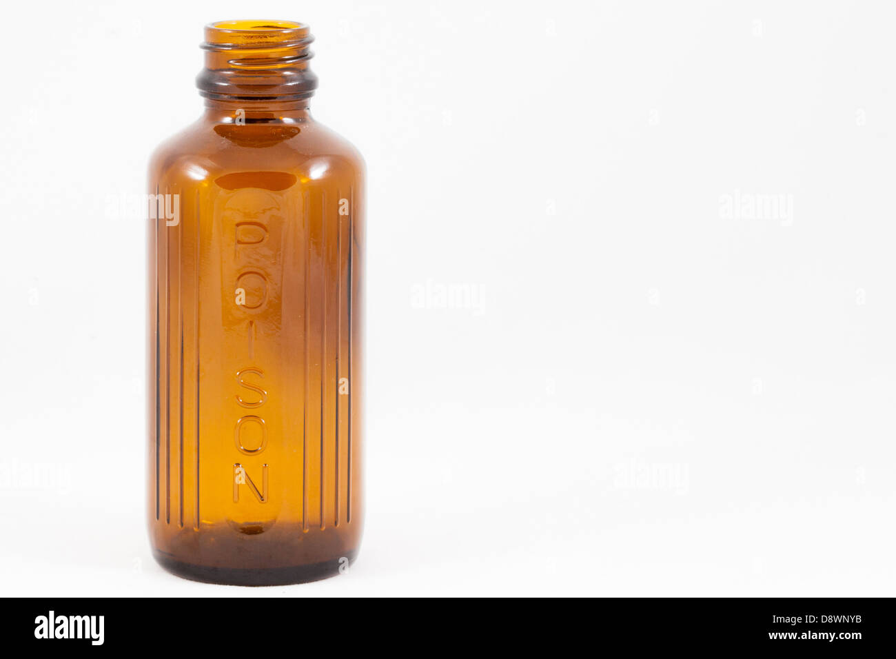 An isolated poison bottle - Stock Image