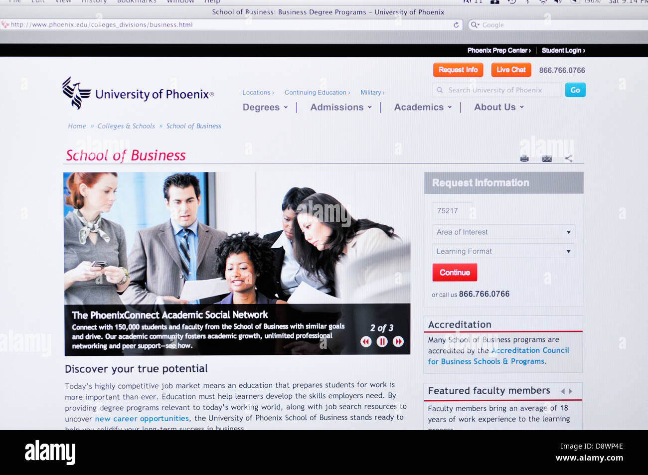 University Phoenix Online Education Website High Resolution Stock Photography And Images Alamy