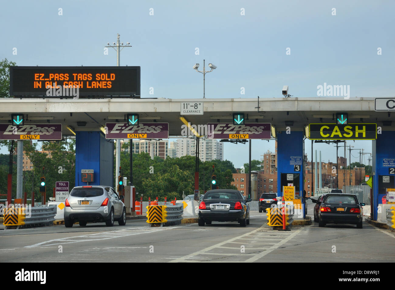 Highway tollbooth in New York City, USA - Stock Image