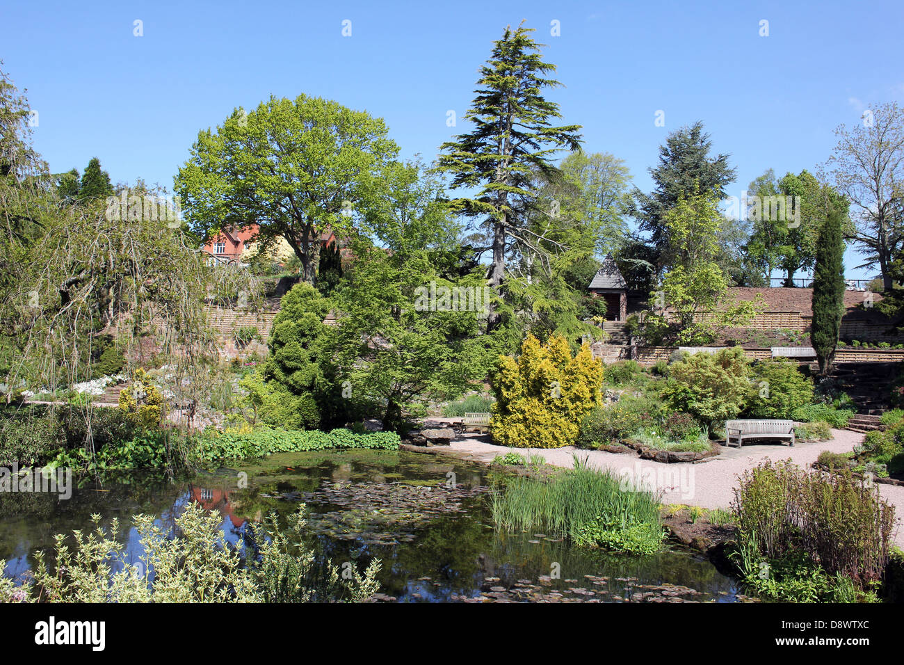 Rock Garden at Ness Botanical Gardens, Wirral - Stock Image