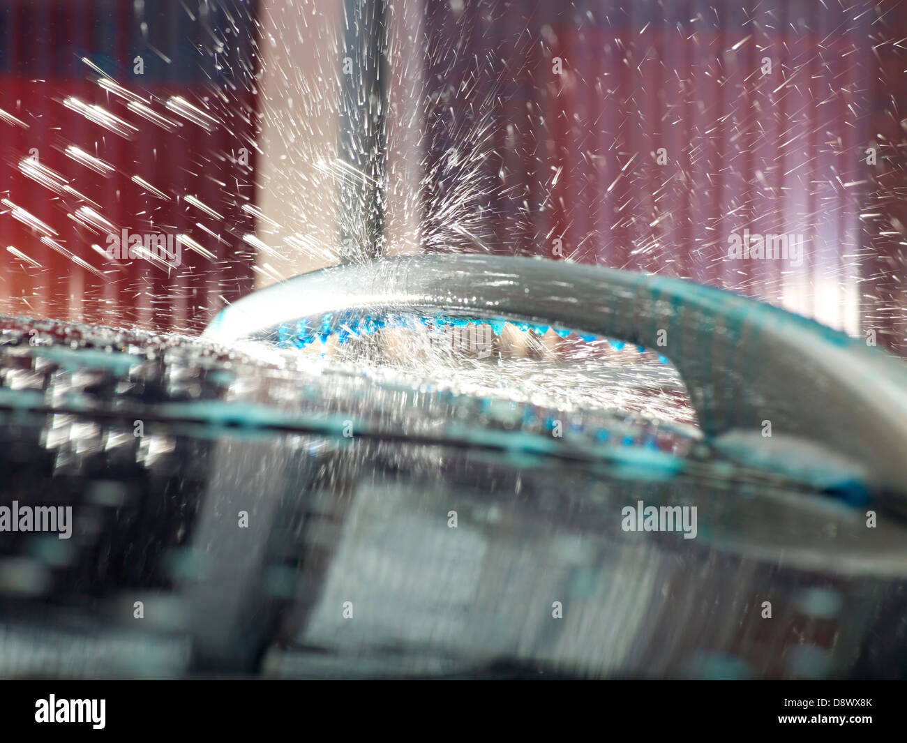 car wash motor vehicle brush clean exterior - Stock Image