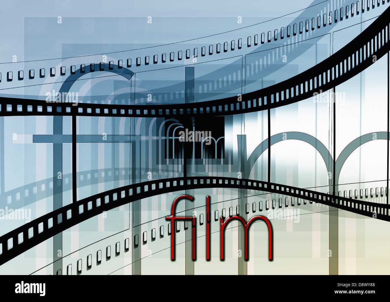cinema strip movie film video cinema stripes - Stock Image