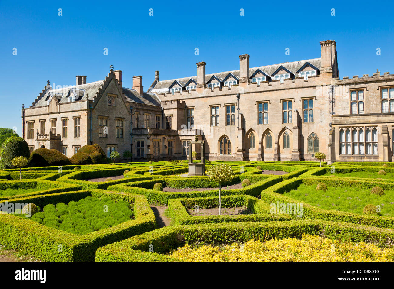 Newstead Abbey Historic House and gardens Ravenshead Newstead Nottinghamshire England UK GB EU Europe - Stock Image