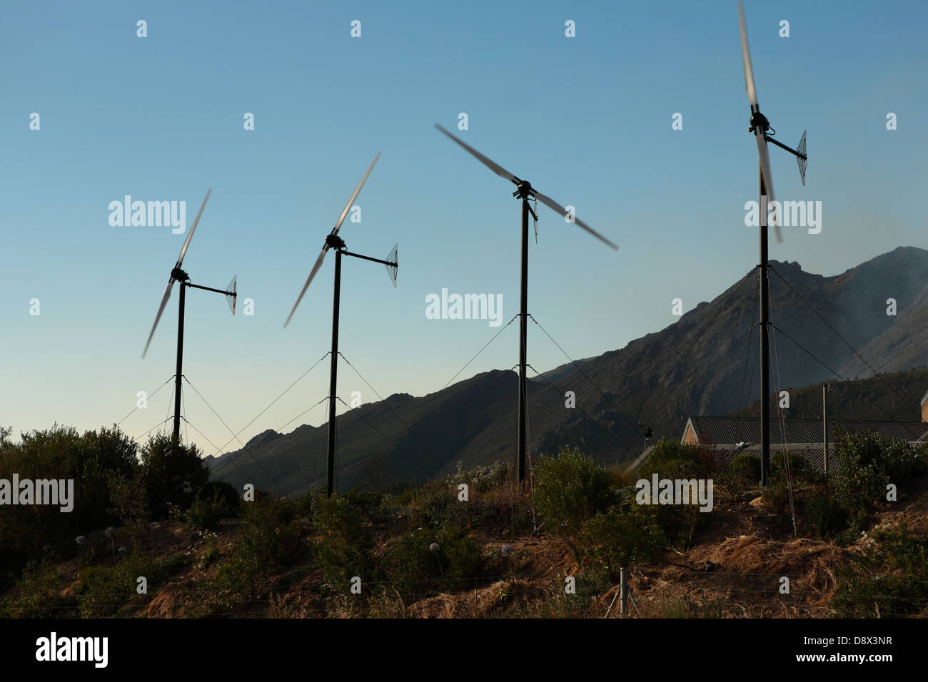 Domestic wind energy generation, Western Cape, South Africa - Stock Image