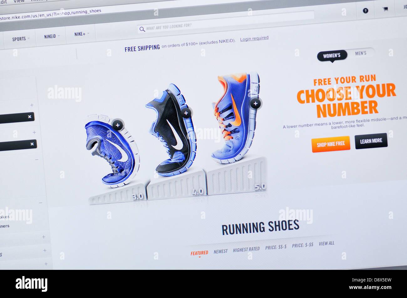 Hong Kong Marco Polo En cantidad  Nike website - online footwear shopping Stock Photo - Alamy