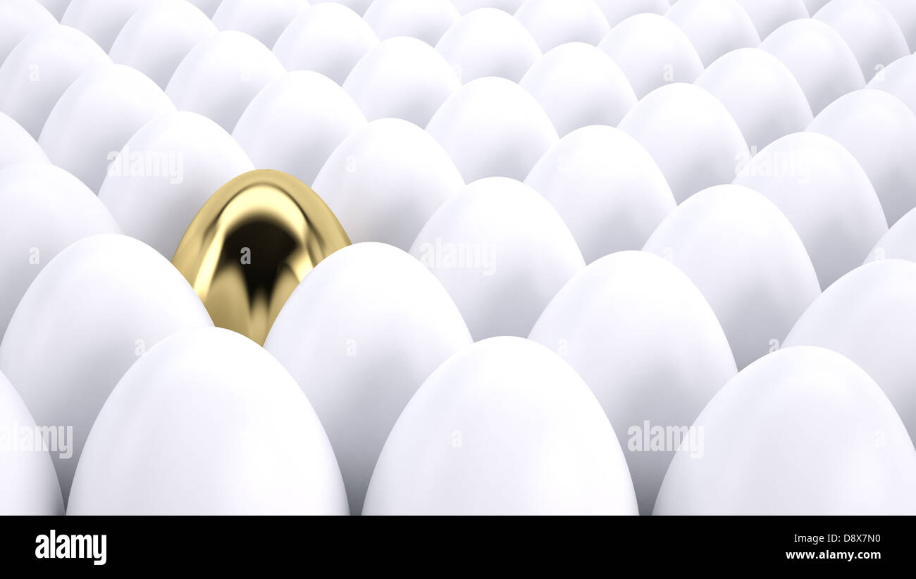 Concept of standing out from the crowd - Stock Image