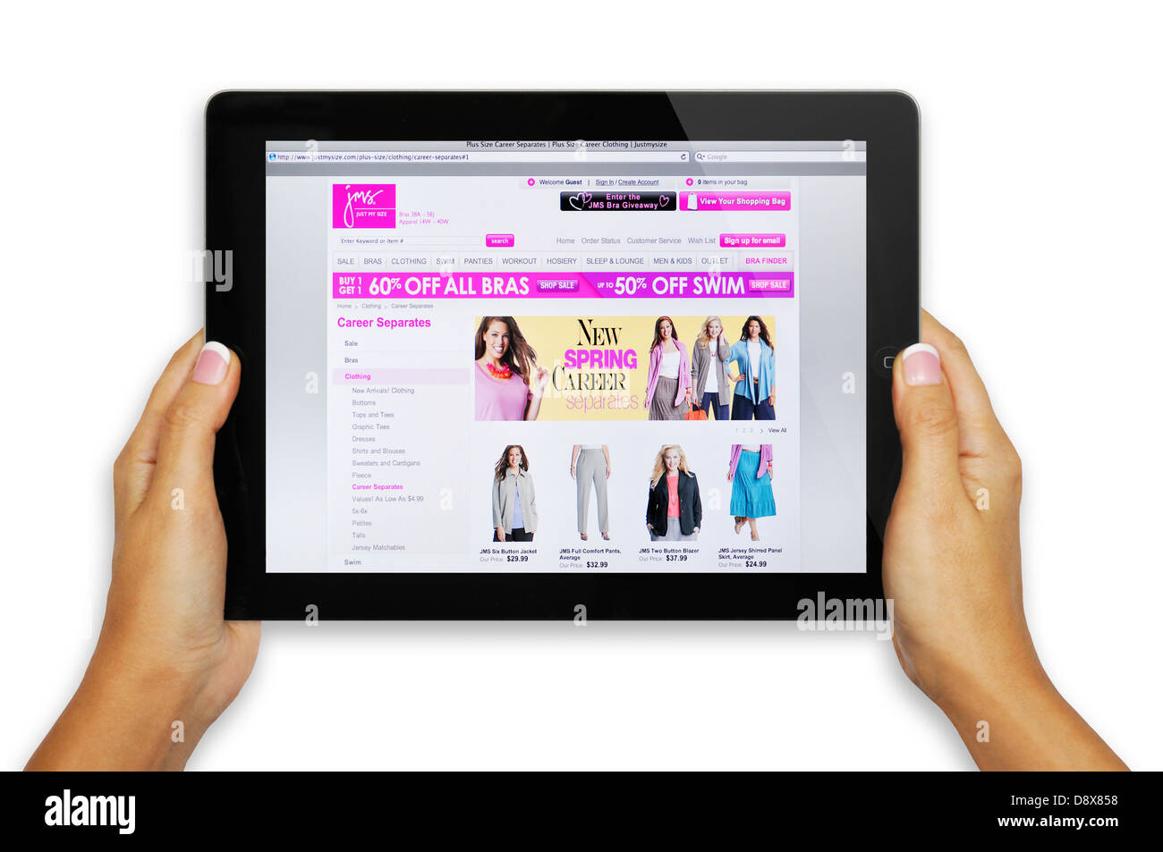 Just My Size Clothing Store On Ipad Screen Stock Photo 57125524 Alamy