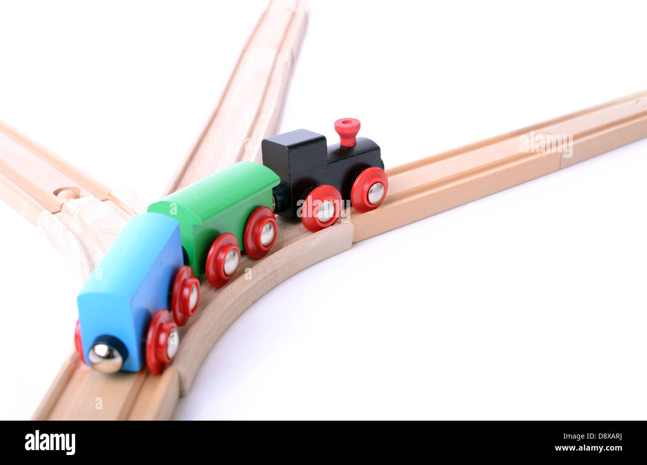 business concept of on the right track - Stock Image
