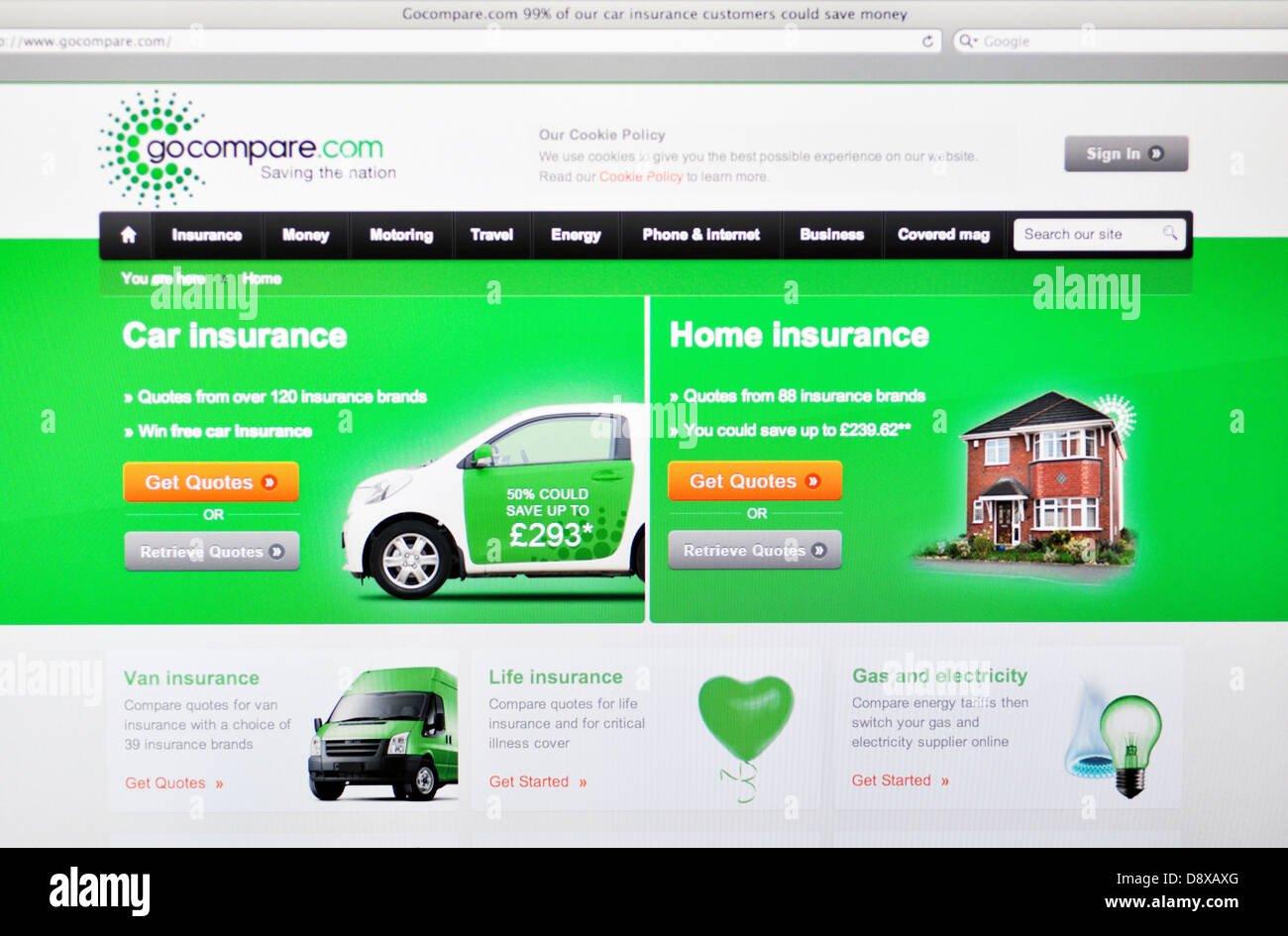 Gocompare Website Insurance Rates Comparison Stock Photo 57127688